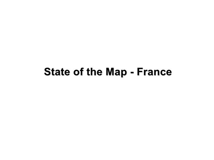 State of the Map - France