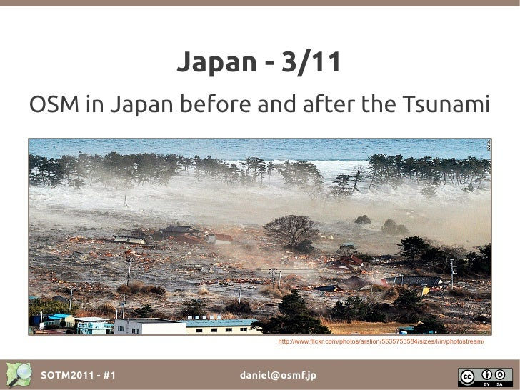 Japan - 3/11OSM in Japan before and after the Tsunami                            http://www.flickr.com/photos/arslion/5535...