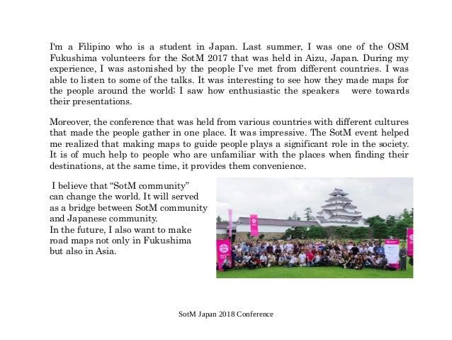 国際カンファレンスSOTMへのボランティア参加 Slide 2