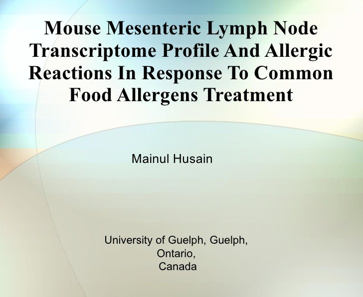 Mouse Mesenteric Lymph Node Transcriptome Profile And Allergic Reactions In Response To Common Food Allergens Treatment Ma...