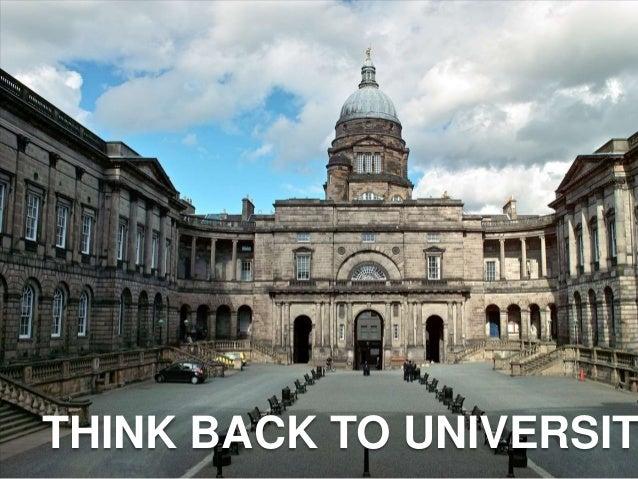 THINK BACK TO UNIVERSIT
