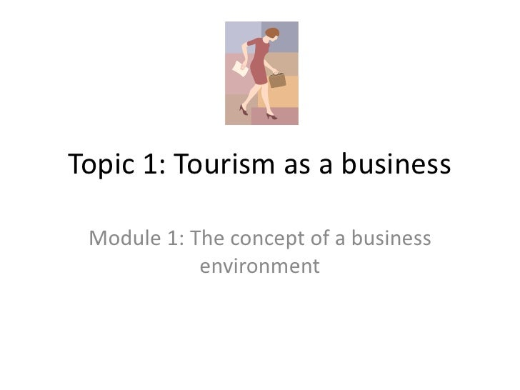 Topic 1: Tourism as a business<br />Module 1: The concept of a business environment<br />