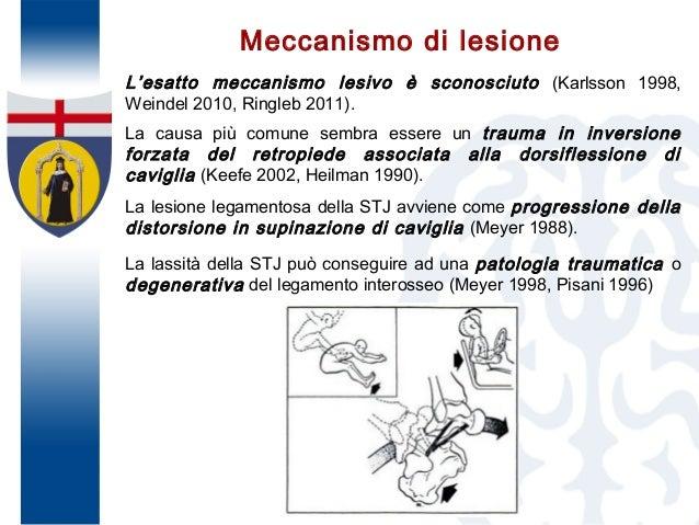 Meccanismo di lesione L'esatto meccanismo lesivo è sconosciuto (Karlsson 1998, Weindel 2010, Ringleb 2011). La causa più c...