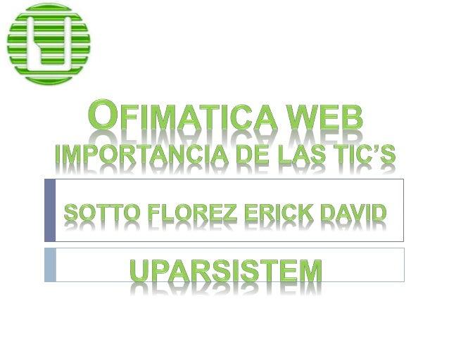Las tecnologías de la información y  la comunicación (TIC'S) son todas  aquellas herramientas y programas  que tratan, adm...