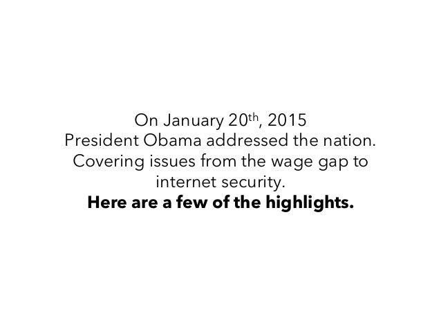 The State of the Union: Highlights Slide 2