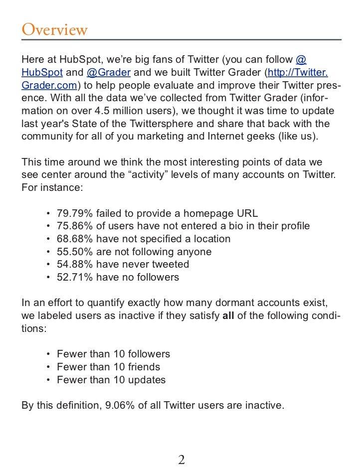 State of Twittersphere - Twitter Report June 2009 Slide 2