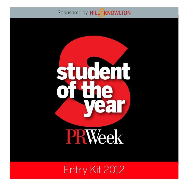 Sponsored bystudentof the   year  Entry Kit 2012