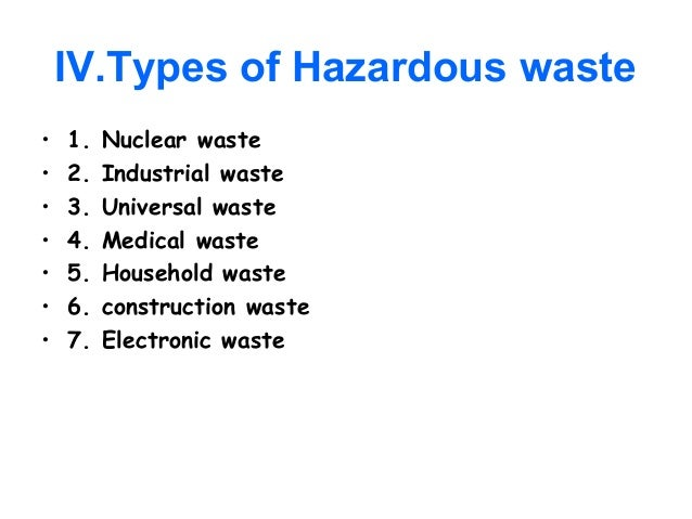 thesis hazardous waste management The hazardous waste management program uses the term solid waste to denote something that is a waste epa developed hazardous waste regulations that define in more.