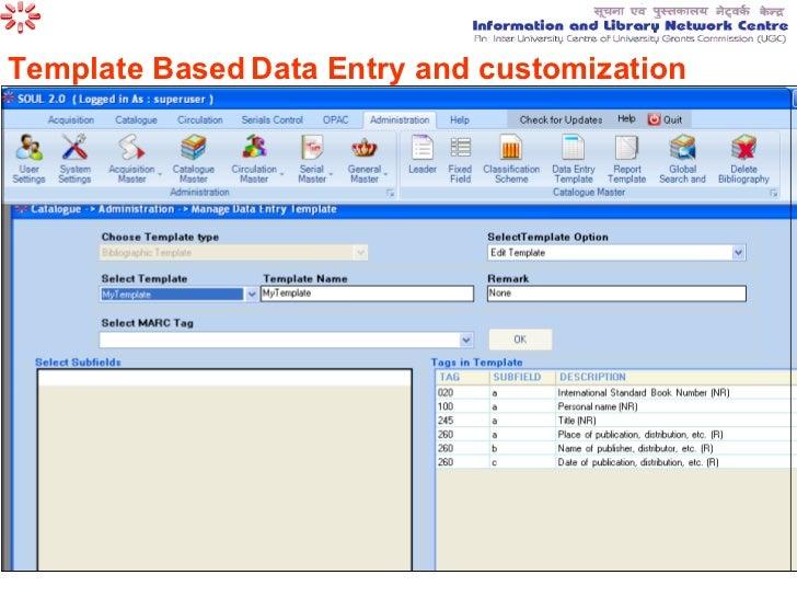 data entry website template