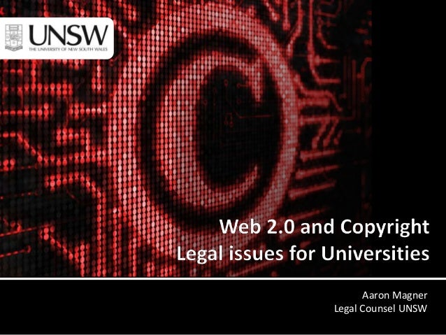 Aaron Magner Legal Counsel UNSW