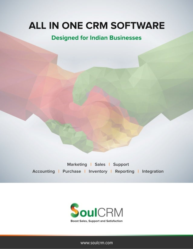 ALL IN ONE CRM SOFTWARE  Designed for Indian Businesses  Marketing I Sales I Support Accounting I Purchase I Inventory I R...