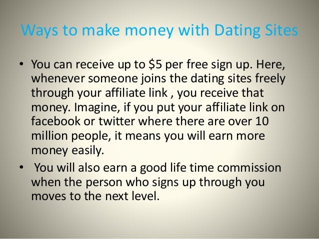How to make money on a dating site