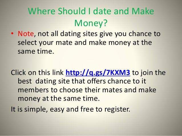 Make Money With Online Dating Site