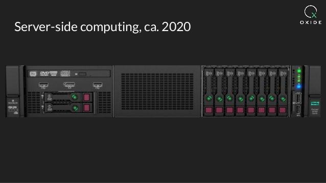 Server-side computing, ca. 2020