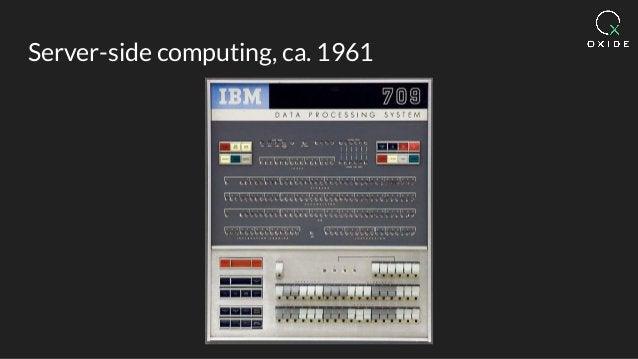 Server-side computing, ca. 1961