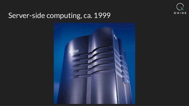 Server-side computing, ca. 1999