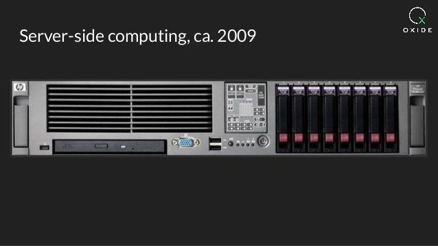 Server-side computing, ca. 2009
