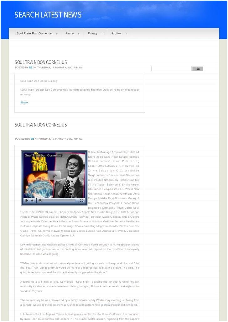 SEARCH LATEST NEWS    Soul Train Don Cornelius                Home              Privacy             ArchiveSOUL TRAIN DON ...