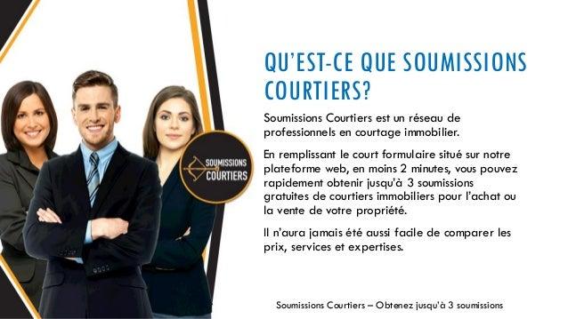 Soumissions courtiers comparer des courtiers immobiliers - Chambre des courtiers immobiliers ...