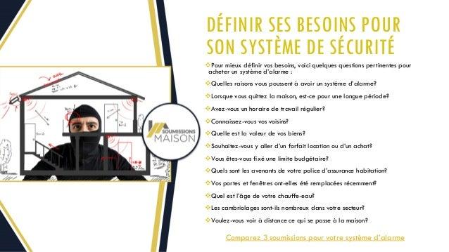 comparer les prix pour installation de syst me d alarme avec soumissi. Black Bedroom Furniture Sets. Home Design Ideas