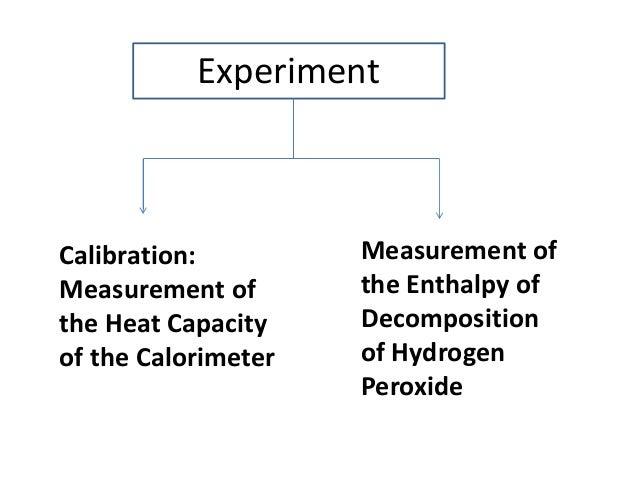 decomposing hydrogen peroxide experiment