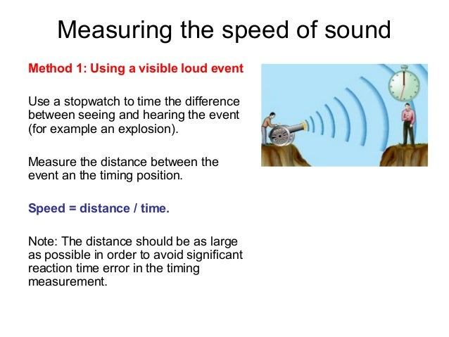 measuring the speed of sound moving We have a number of devices to measure the speed of an object we measure moving  when the observer is moving and the source of the sound  by measuring how.