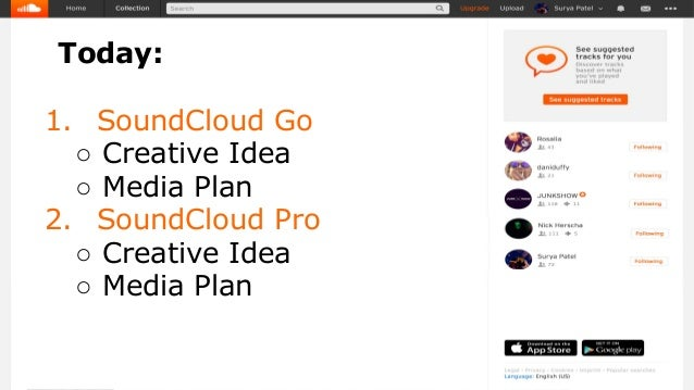 SoundCloud: creative idea + media plan