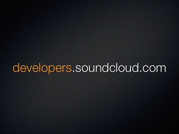 developers.soundcloud.com