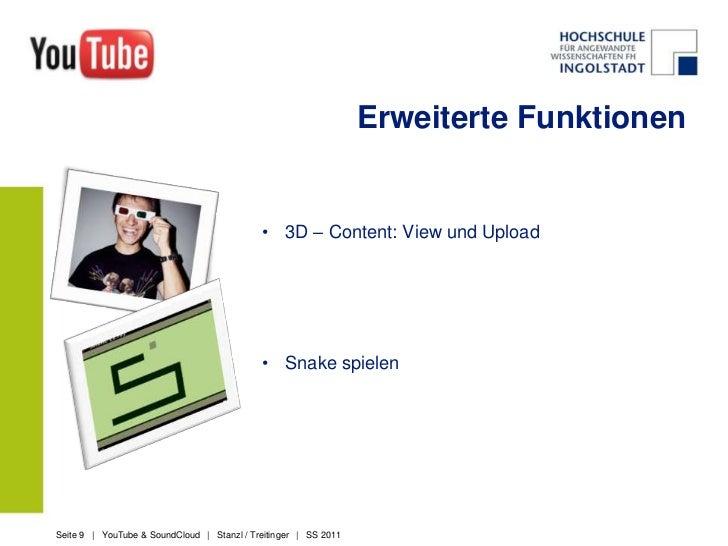 Grundfunktionen<br />Konto erstellen<br />Videos suchen<br />Videos hochladen<br />Videos beschreiben<br />Videos einbette...