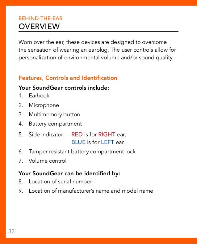 Soundgear Hearing Protection Operations Manual