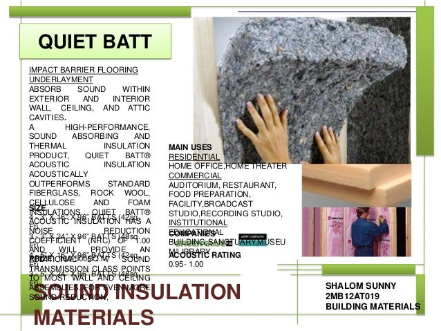 Sound insulation materials for Best sound barrier insulation
