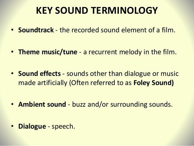 Film Sound Analysis intro