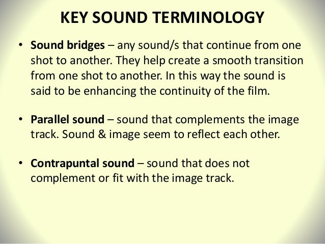 film sound analysis Vertigo is a 1958 american film noir psychological thriller film directed and  produced by alfred  faulting sight & sound for perennially putting the film on  the list of best-ever films, he wrote, hitchcock is a director who delights in getting  his.