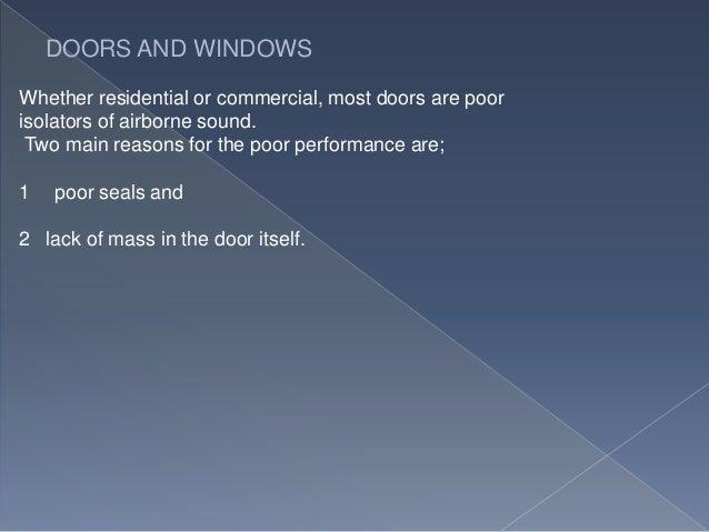 & Sound leaks in doors