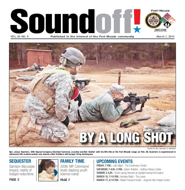 Soundoff! vol. 65 no. 9	                         Published in the interest of the Fort Meade community	                   ...