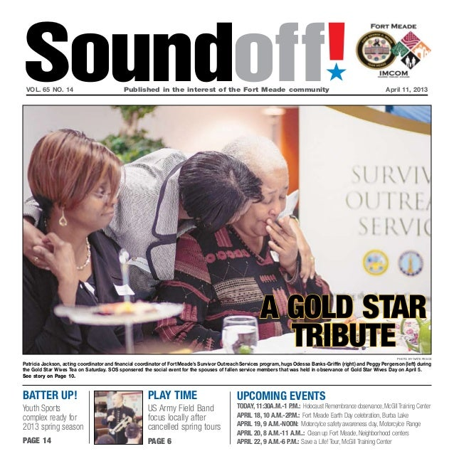 Soundoff! vol. 65 no. 14                            Published in the interest of the Fort Meade community               ...