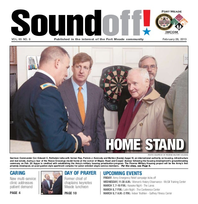 Soundoff! vol. 65 no. 8	                          Published in the interest of the Fort Meade community	                  ...
