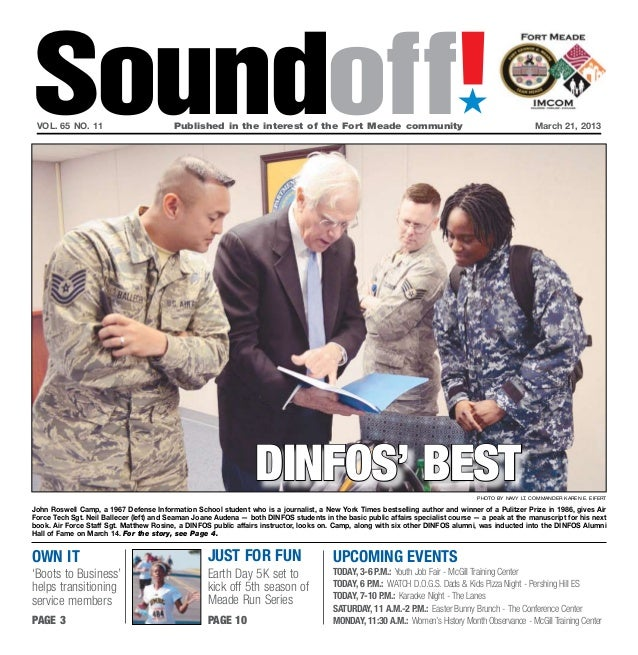 Soundoff! vol. 65 no. 11	                         Published in the interest of the Fort Meade community	                  ...