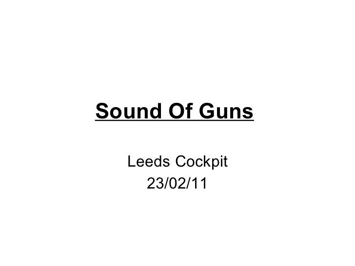 Sound Of Guns   Leeds Cockpit 23/02/11