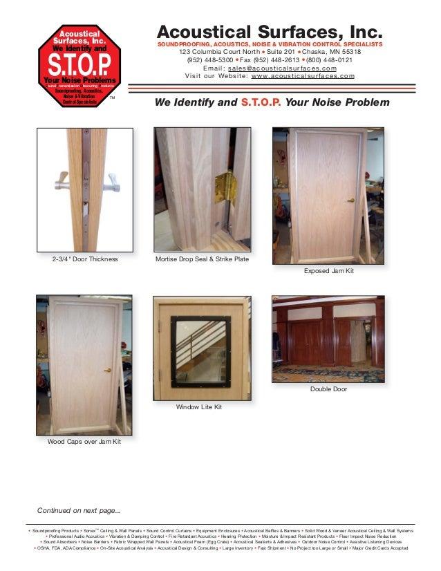 Soundproof Interior Exterior Doors