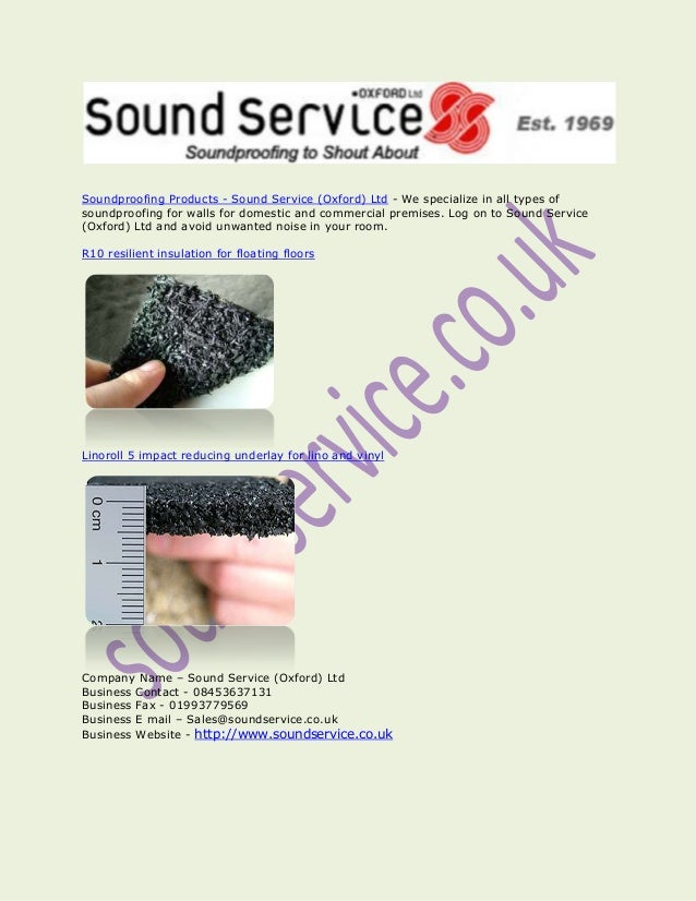 Soundproofing Products - Sound Service (Oxford) Ltd - We specialize in all types of soundproofing for walls for domestic a...