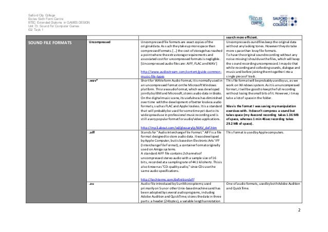 Sound recording glossary - IMPROVED Slide 2