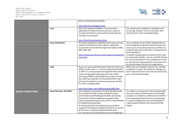 Sound recording glossary - IMPROVED Slide 3