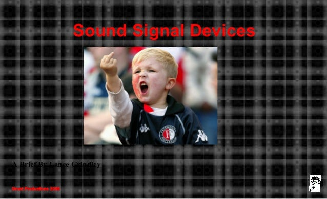 Grunt Productions 2008 Sound Signal Devices A Brief By Lance Grindley
