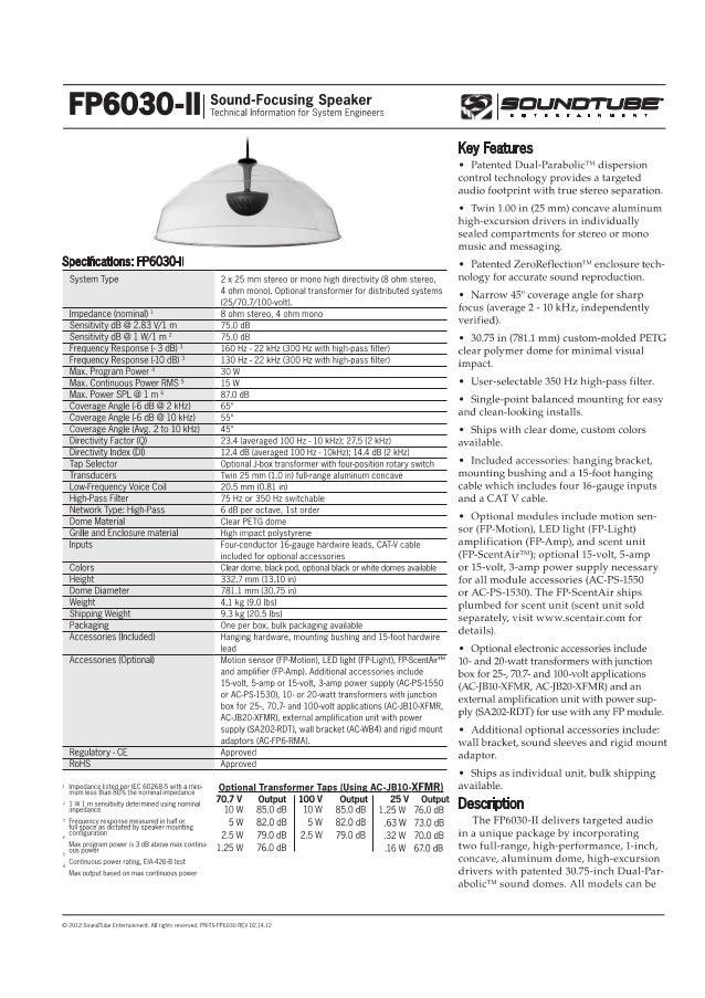 SoundTube - Sound focusing speaker FP6030-II