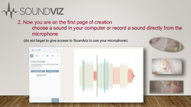 2. Now you are on the first page of creation choose a sound in your computer or record a sound directly from the microphon...