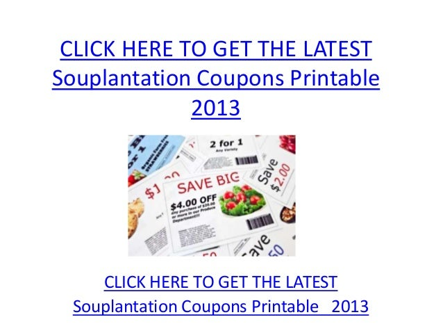 photo about Souplantation Printable Coupons titled Souplantation Discount codes Printable 2013 - Souplantation Discount coupons
