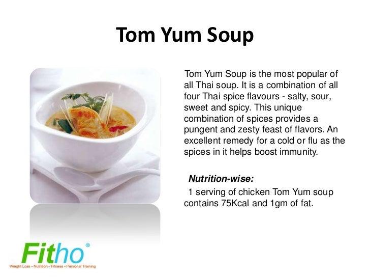 Calories in tom kha soup
