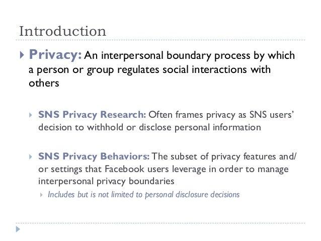 Profiling Facebook Users' Privacy Behaviors Slide 2