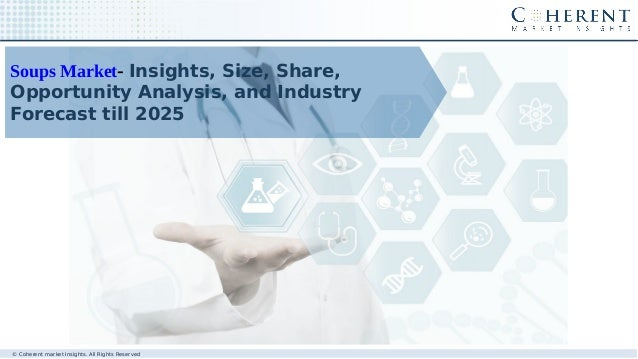 Soups Market- Insights, Size, Share, Opportunity Analysis, and Industry Forecast till 2025 © Coherent market Insights. All...